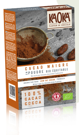 organic fair trade low fat cocoa powder
