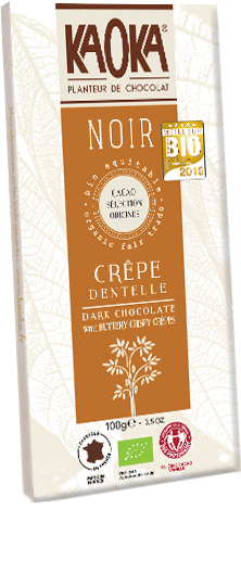 Organic Fair Trade Dark Chocolate Crepe Dentelle KAOKA