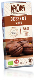 dark chocolate bar for pastry organic faire trade