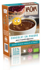 organic drinking chocolate powder