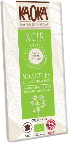 Organic fair trade dark chocolate witz hazelnuts