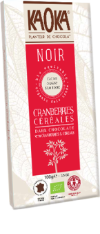 Organic Fair Trade Dark Chocolate Cranberries Cereals KAOKA