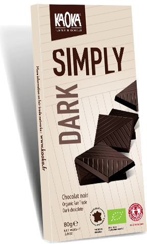 Simply organic fair trade dark chocolate