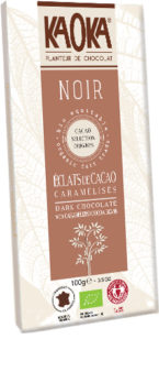 Dark Chocolate Caremelized Cocoa Beans Cocoa- Organic Fairtrade KAOKA