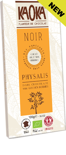 Dark chocolate golden berries organic fairtrade KAOKA